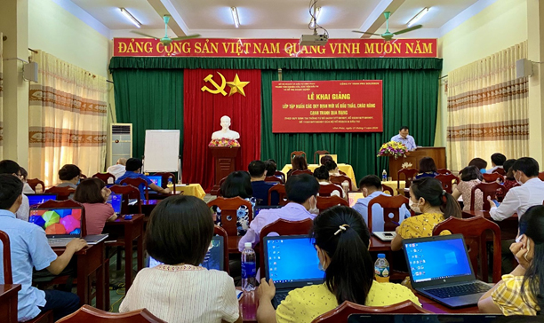 Sở Kế hoạch và Đầu tư tỉnh Vĩnh Phúc tổ chức tập huấn nghiệp vụ đấu thầu qua mạng