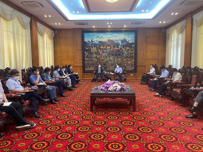 Lãnh đạo UBND tỉnh Vĩnh Phúc tiếp và làm việc với Đại sứ quán Hàn Quốc về tăng cường công tác chống dịch Covid – 19