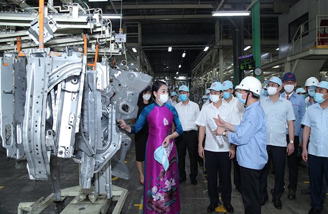Bí thư Tỉnh ủy Hoàng Thị Thúy Lan làm việc với Công ty Ô tô Toyota Việt Nam và Công ty Honda Việt Nam