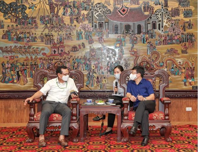 Chủ tịch UBND tỉnh Vĩnh Phúc tiếp và làm việc với Chủ tịch Hiệp hội doanh nghiệp Hàn Quốc tại tỉnh Vĩnh Phúc