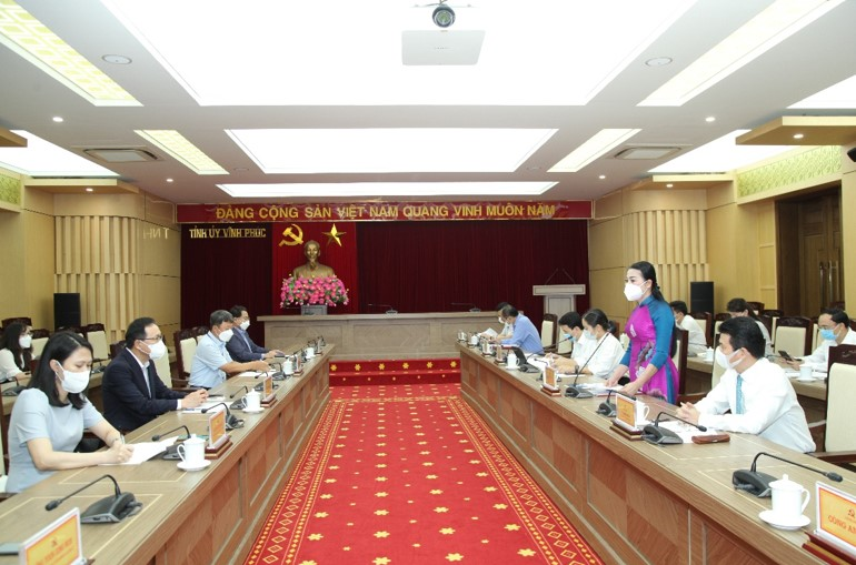 Bí thư Tỉnh ủy tỉnh Vĩnh Phúc tiếp và làm việc với Tổng Giám đốc Tổ hợp Samsung Việt Nam